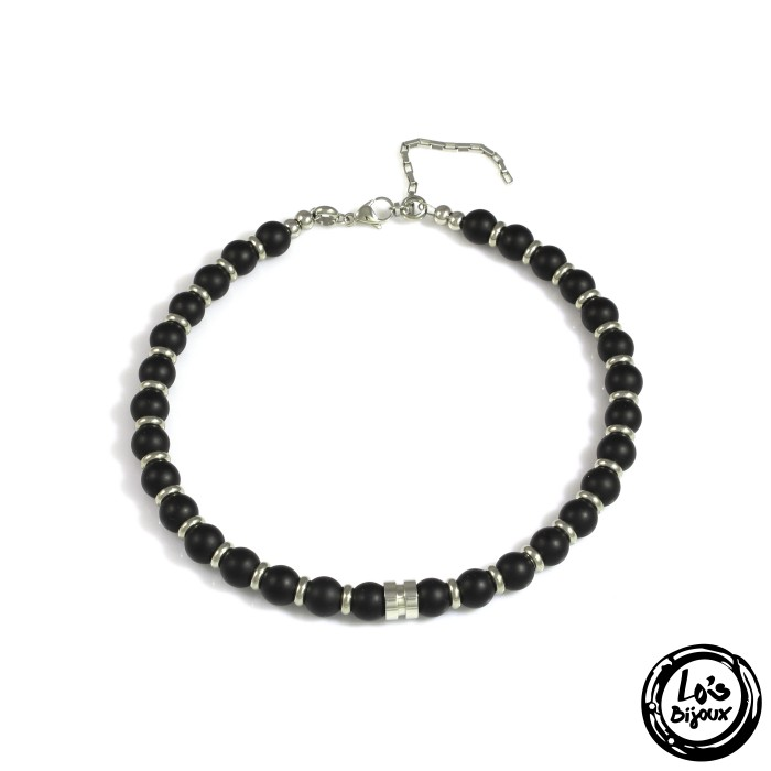 collier homme fashion perle