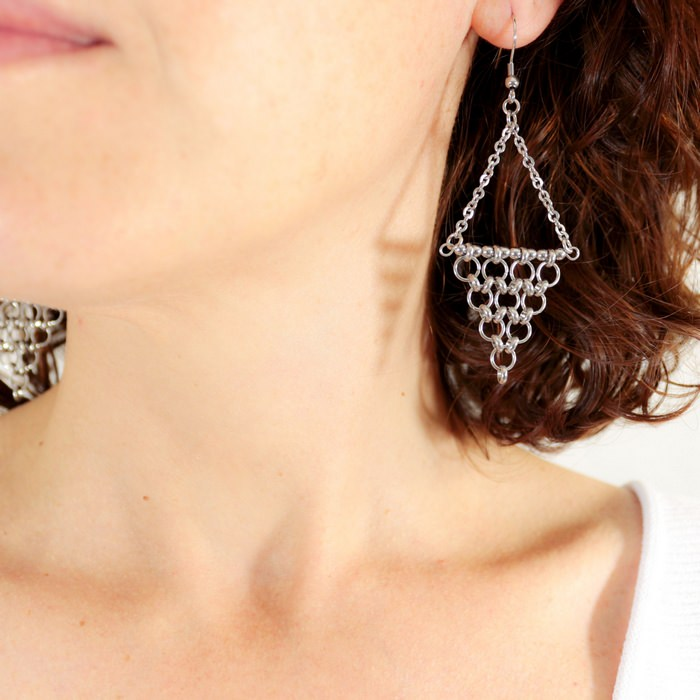 boucle d'oreille triangle style oriental