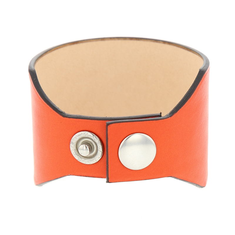 manchette cuir rouge orange
